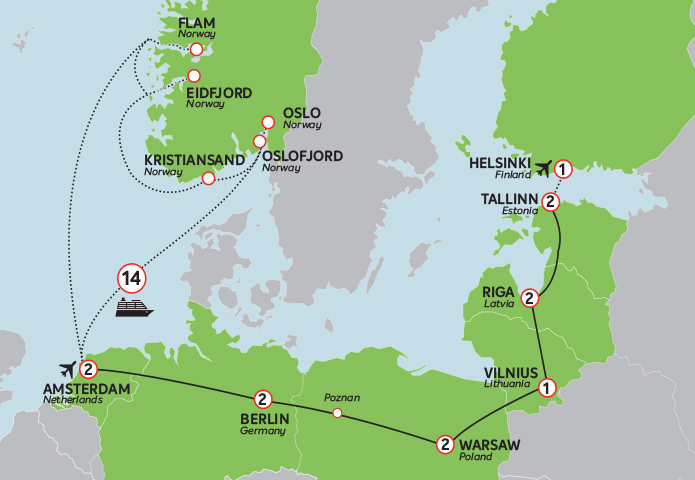 Eastern Europe and Norway Cruise