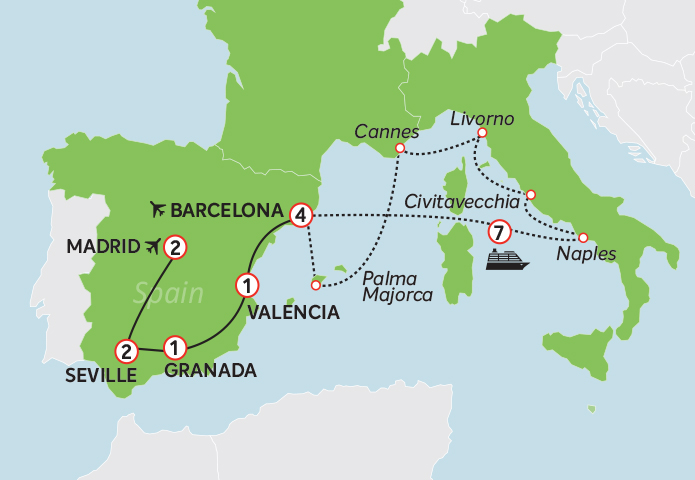 Spain and Med Cruise
